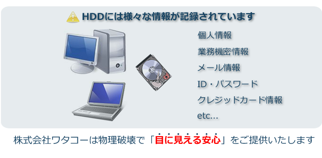 HDDデータ消去の勧め